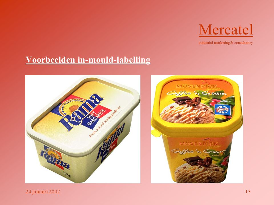 Voorbeelden in-mould-labelling Mercatel industrial marketing & consultancy 24 januari 200213