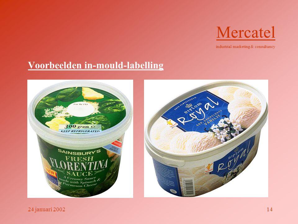 Voorbeelden in-mould-labelling Mercatel industrial marketing & consultancy 24 januari 200214
