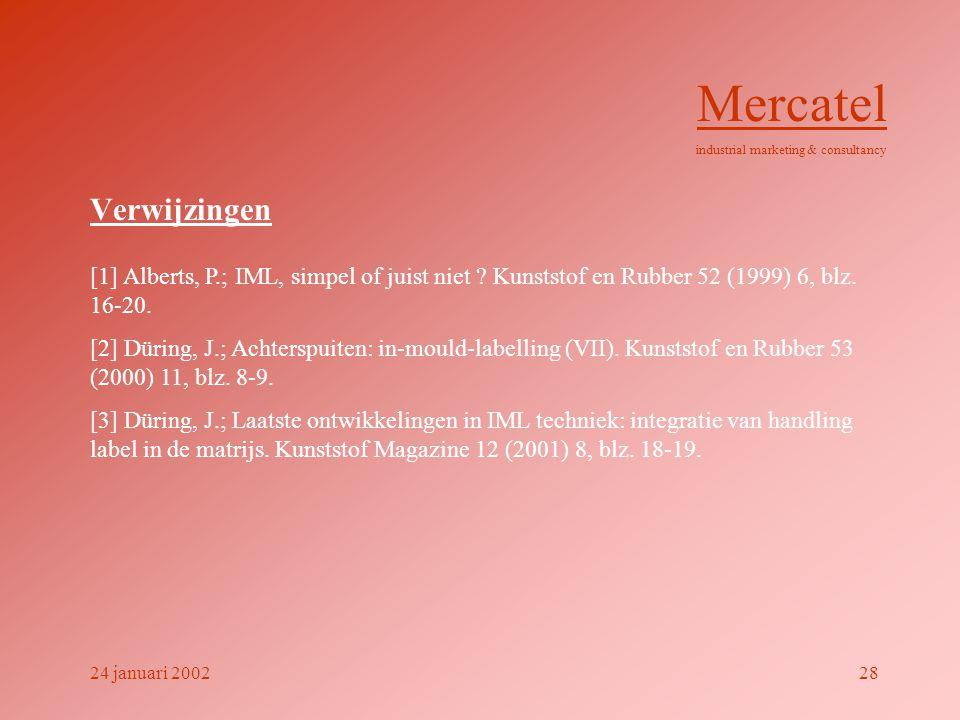 Verwijzingen [1] Alberts, P.; IML, simpel of juist niet ? Kunststof en Rubber 52 (1999) 6, blz. 16-20. [2] Düring, J.; Achterspuiten: in-mould-labelli