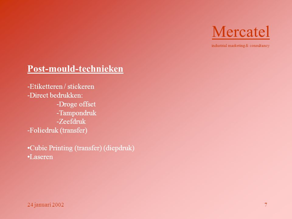 Voorbeelden in-mould-labelling Mercatel industrial marketing & consultancy 24 januari 200218