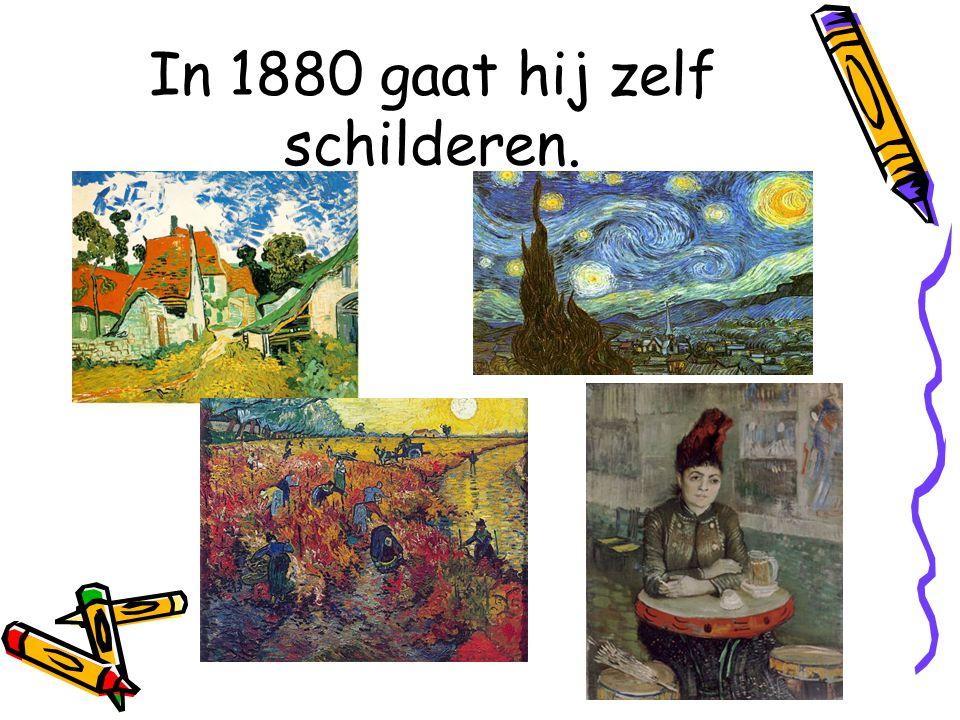 In 1880 gaat hij zelf schilderen.