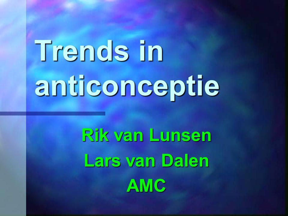 Trends in anticonceptie Rik van Lunsen Lars van Dalen AMC