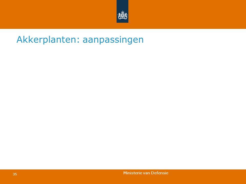 Ministerie van Defensie 35 Akkerplanten: aanpassingen