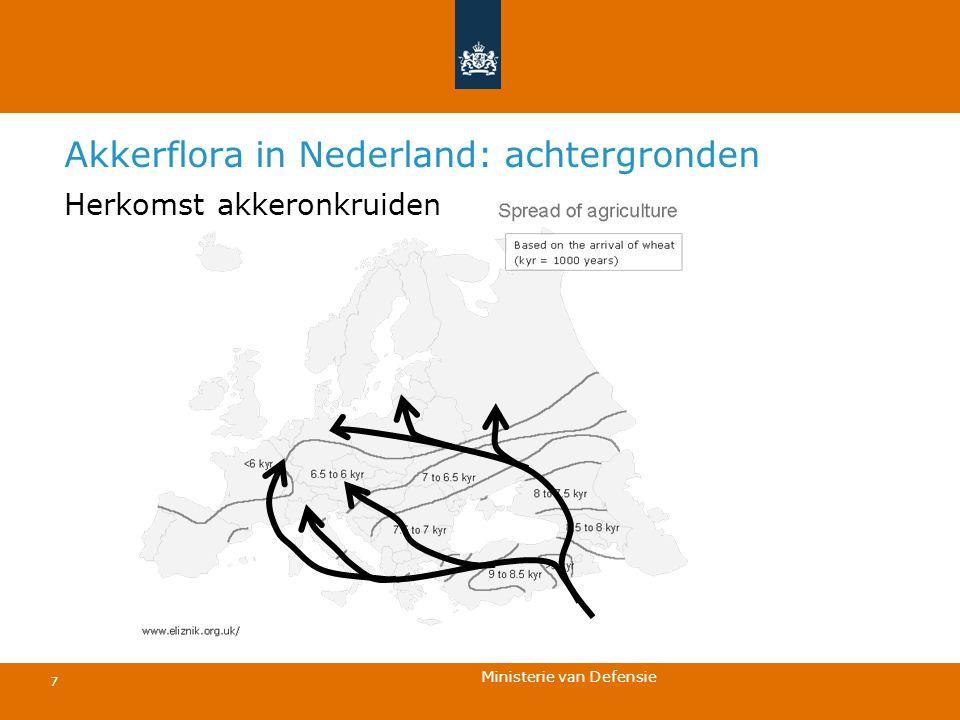 Ministerie van Defensie 7 Akkerflora in Nederland: achtergronden Herkomst akkeronkruiden