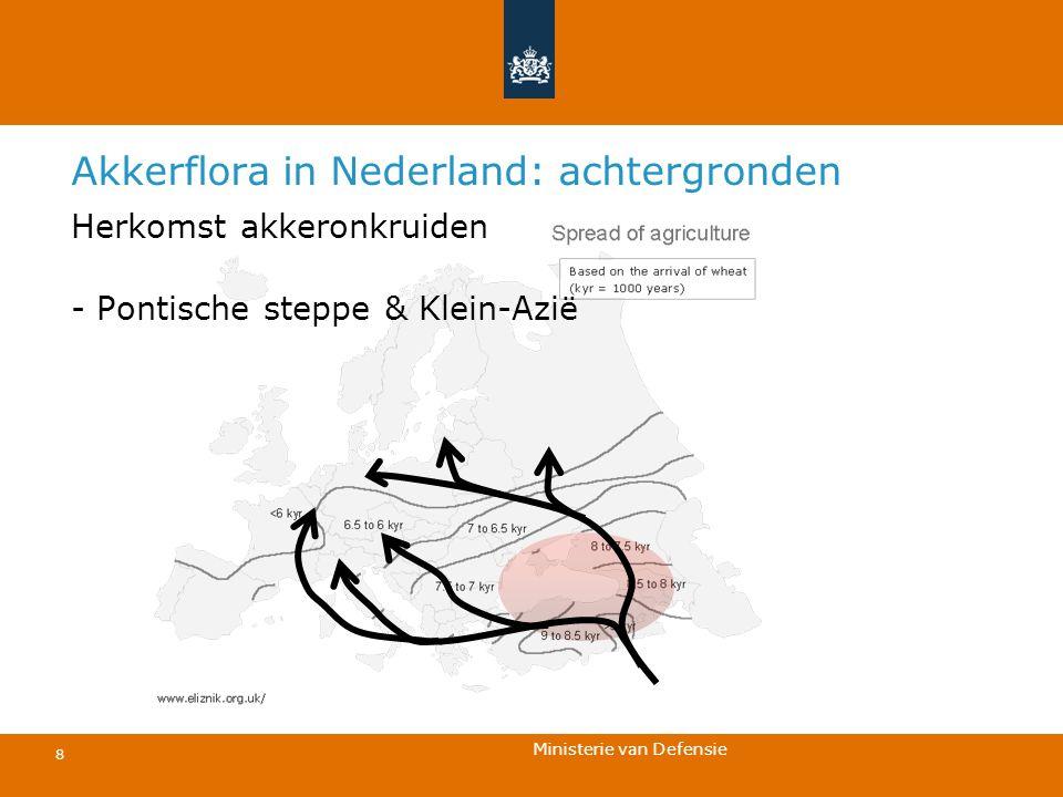 Ministerie van Defensie 8 Akkerflora in Nederland: achtergronden Herkomst akkeronkruiden - Pontische steppe & Klein-Azië