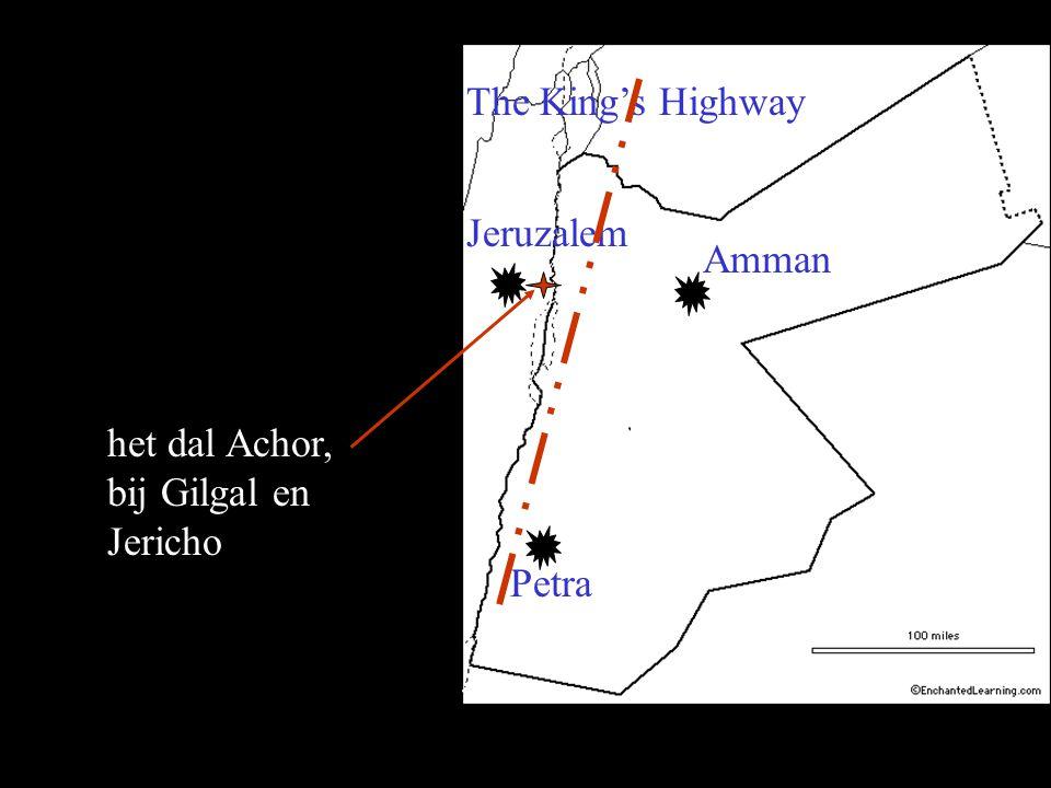 Petra Jeruzalem The King's Highway Amman het dal Achor, bij Gilgal en Jericho