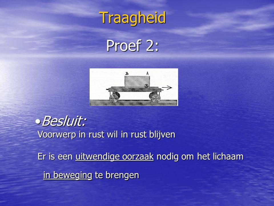 Traagheid Denk na en antwoord: Verklaar waarom de remafstand bij eenzelfde remkracht van een geladen vrachtwagen groter is dan als hij leeg is?