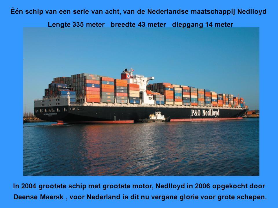 """Het nieuwe 2009 Italiaanse containerschip """" Ms. Beatrice """" kost 120 milj.euro. Geschikt voor ongeveer 14.000 containers Lengte 366 meter. Breedte 51 m"""