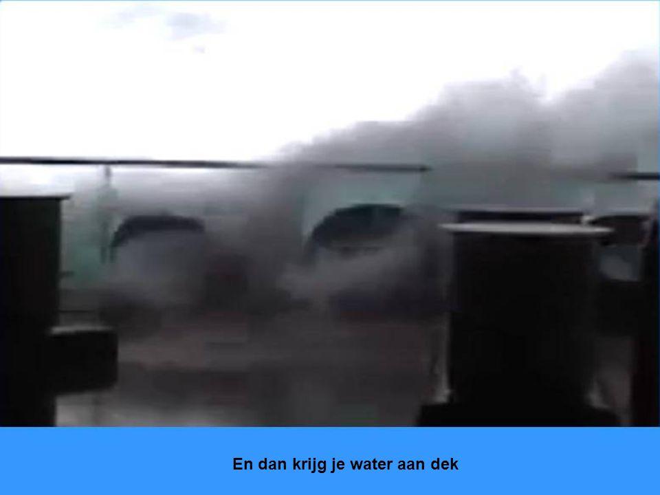 Ook op zee kan het weer slecht worden