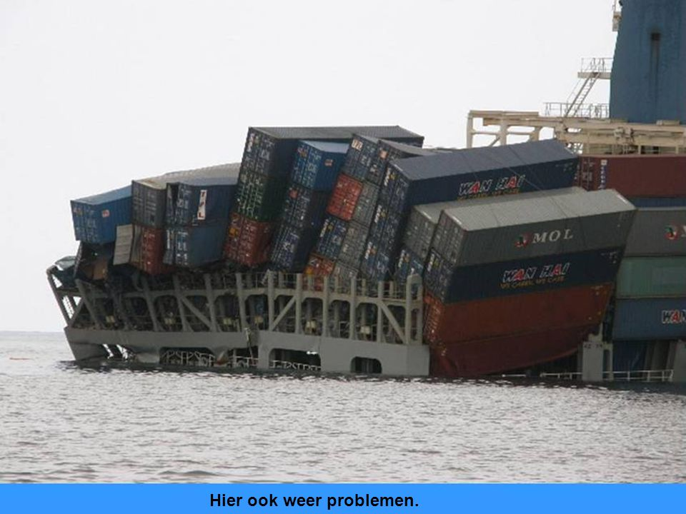 Het zelfde schip nog op zee