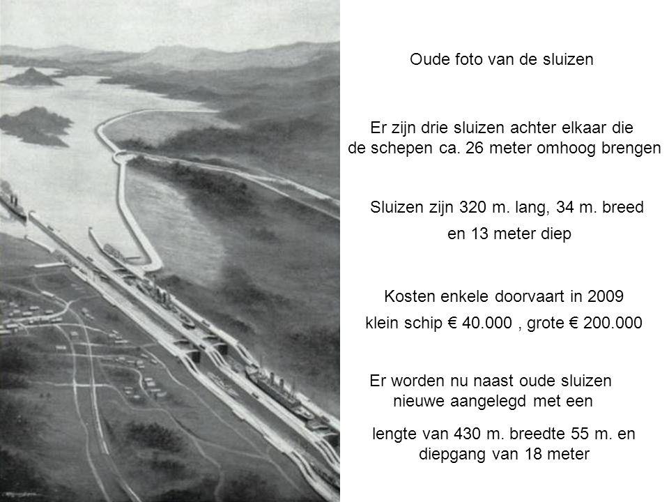 Het Panama kanaal geopend in 1914 is 81 Km.lang vaartijd ca. 9 uur.