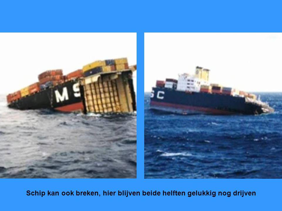Hier schip met zg. katterug is niet goed, kan door verschillende oorzaken komen.