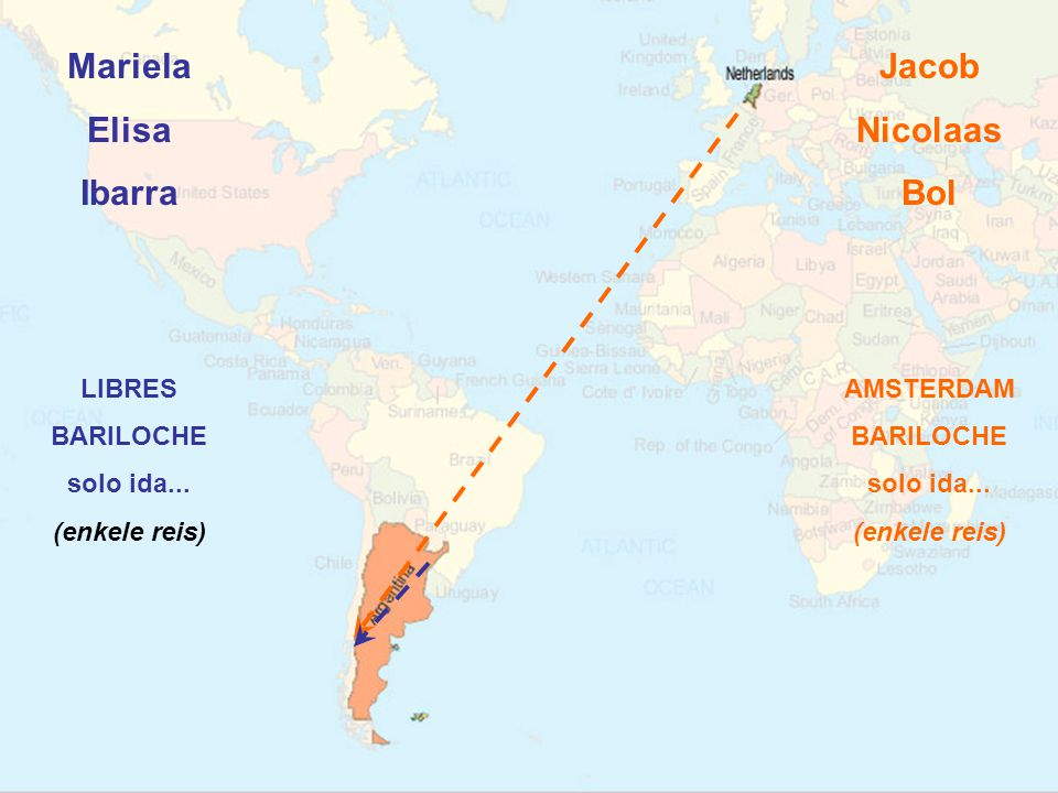 Mariela Elisa Ibarra LIBRES BARILOCHE solo ida... (enkele reis) Jacob Nicolaas Bol
