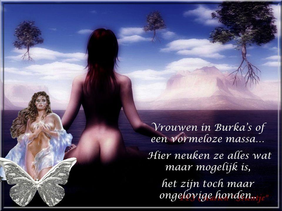 Verscheurde lijken van vrouwen en kinderen na hun heilige daad.