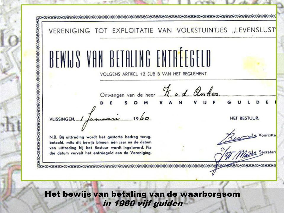 Tijdens de jaren vóór de oprichting van onze vereniging per januari 1960 heeft de sociaal werkster van De Schelde meermalen gevraagd om voorrang voor personeelsleden in moeilijke omstandigheden bij het beschikbaar stellen van een tuin.