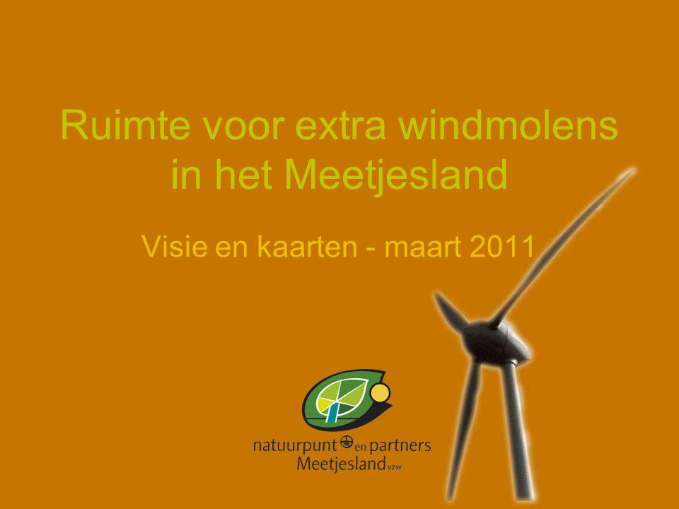 Ruimte voor extra windmolens in het Meetjesland Visie en kaarten - maart 2011