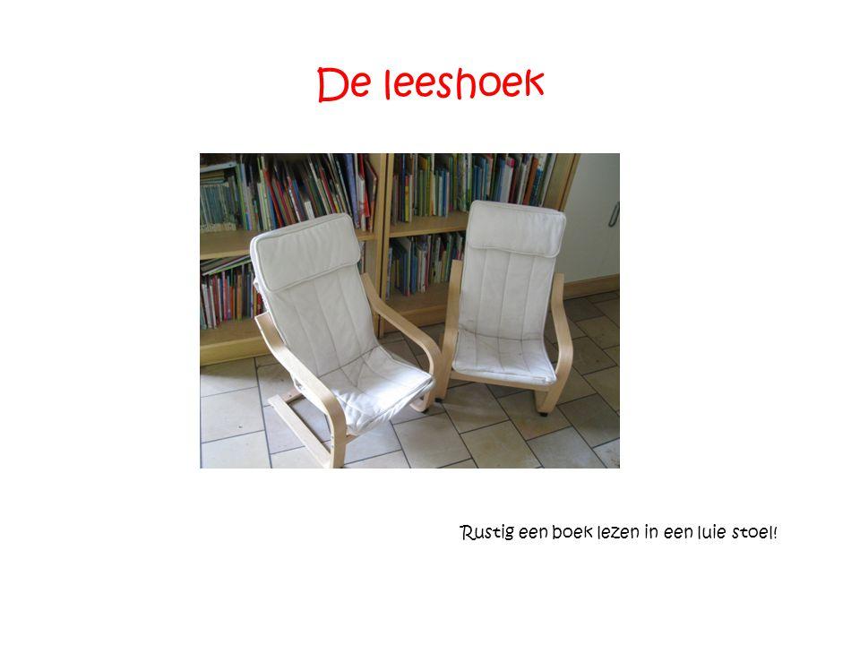 De leeshoek Rustig een boek lezen in een luie stoel!