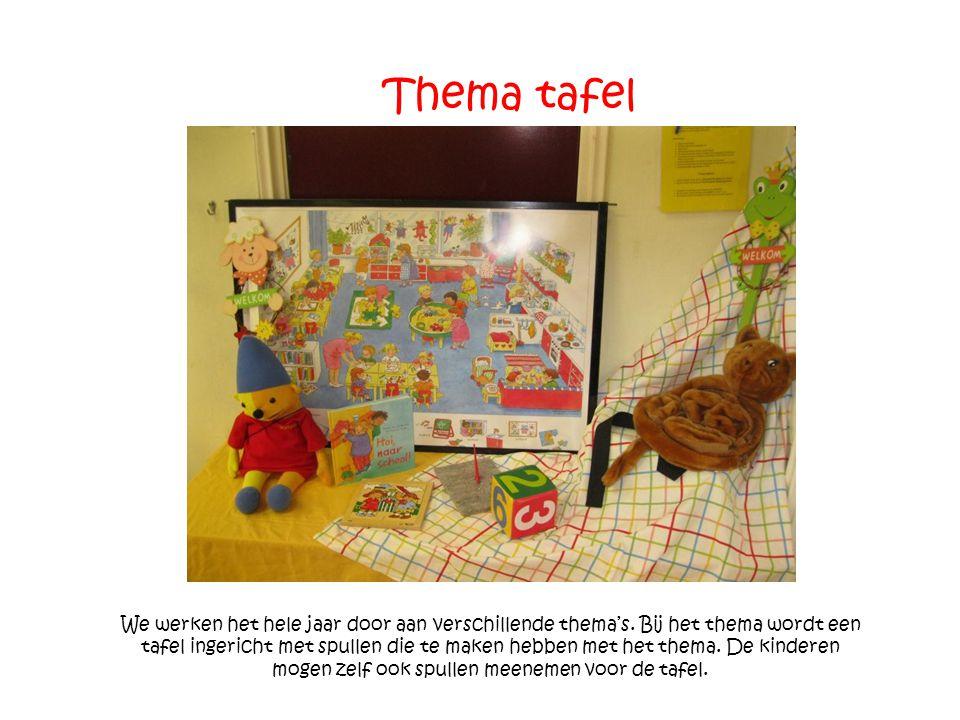 Lettermuur Door de lettermuur leren de kinderen spelenderwijs letters herkennen.