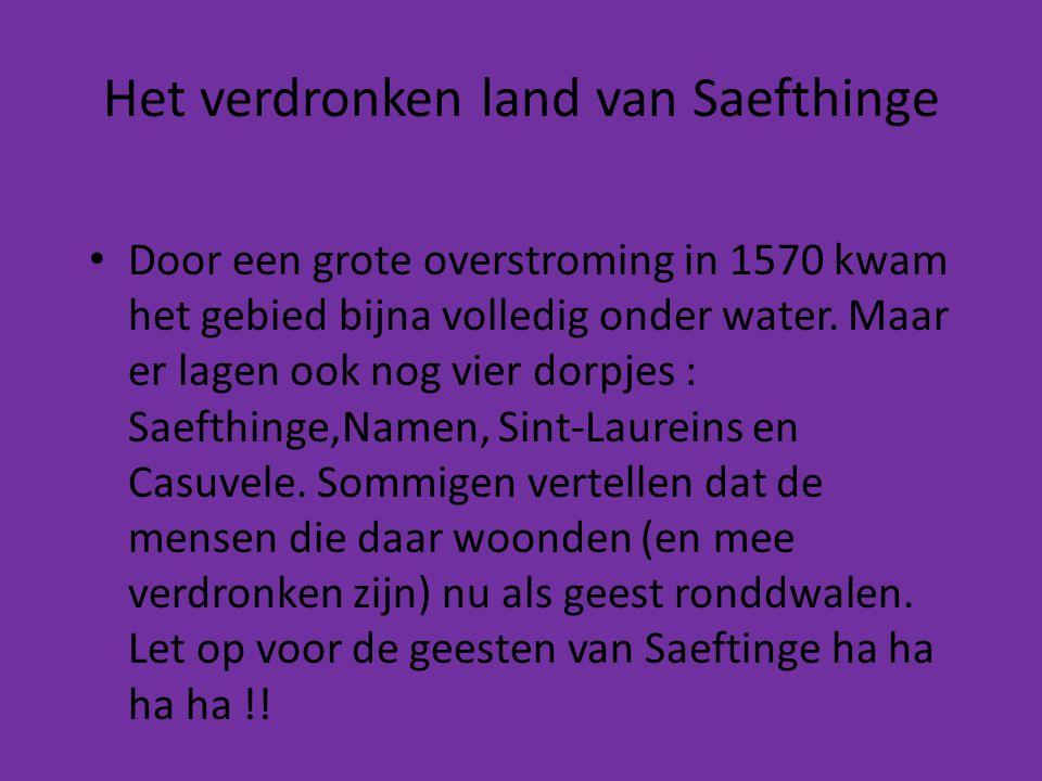 • Door een grote overstroming in 1570 kwam het gebied bijna volledig onder water. Maar er lagen ook nog vier dorpjes : Saefthinge,Namen, Sint-Laureins