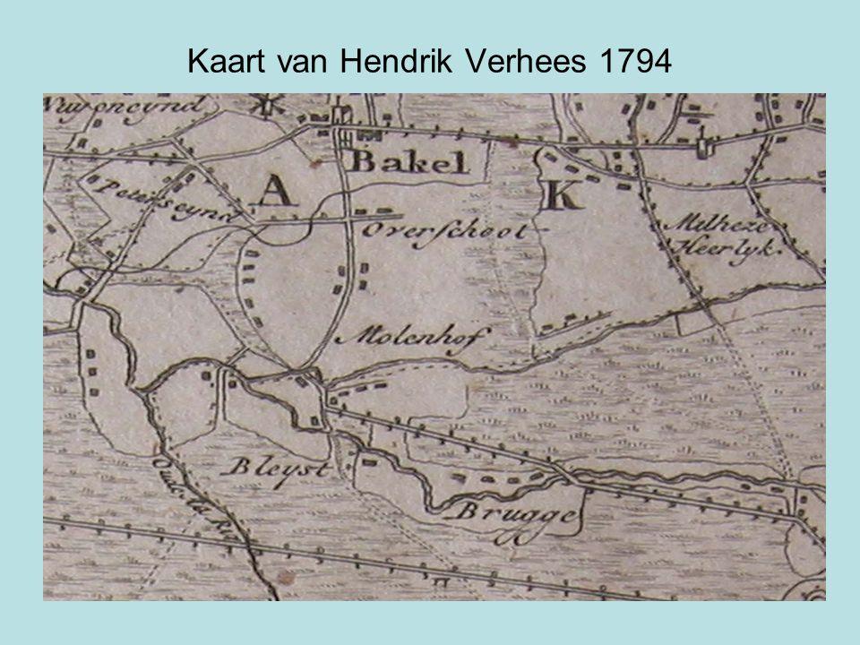 Kaart van Hendrik Verhees 1794