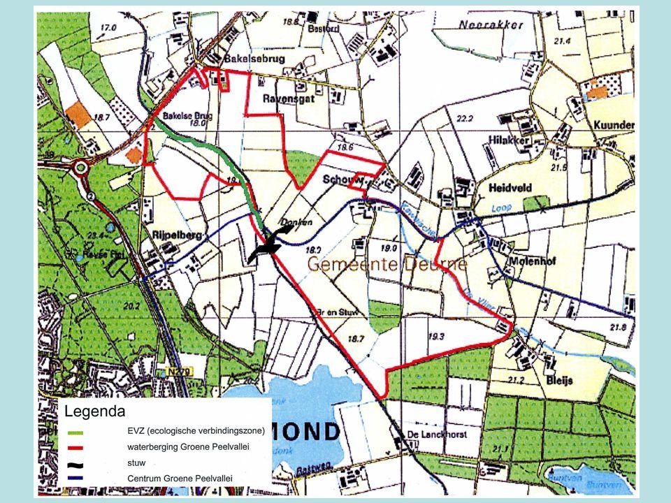 Plangebied.•Het plangebied ligt tussen Deurne, Helmond en Bakel waar drie beken door stromen.