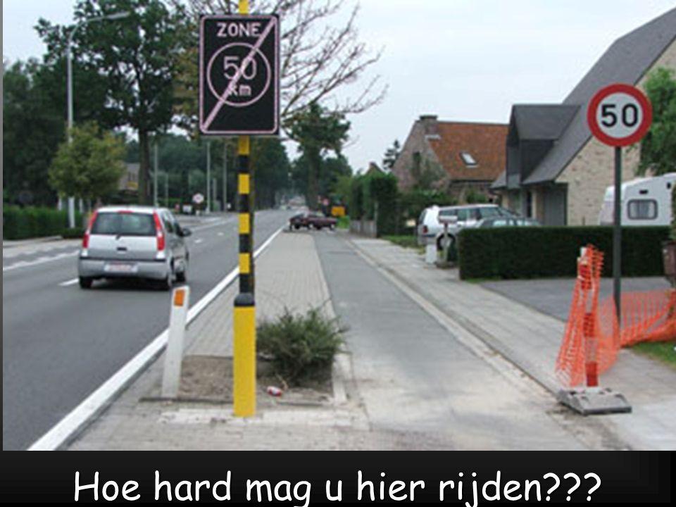Hoe hard mag u hier rijden
