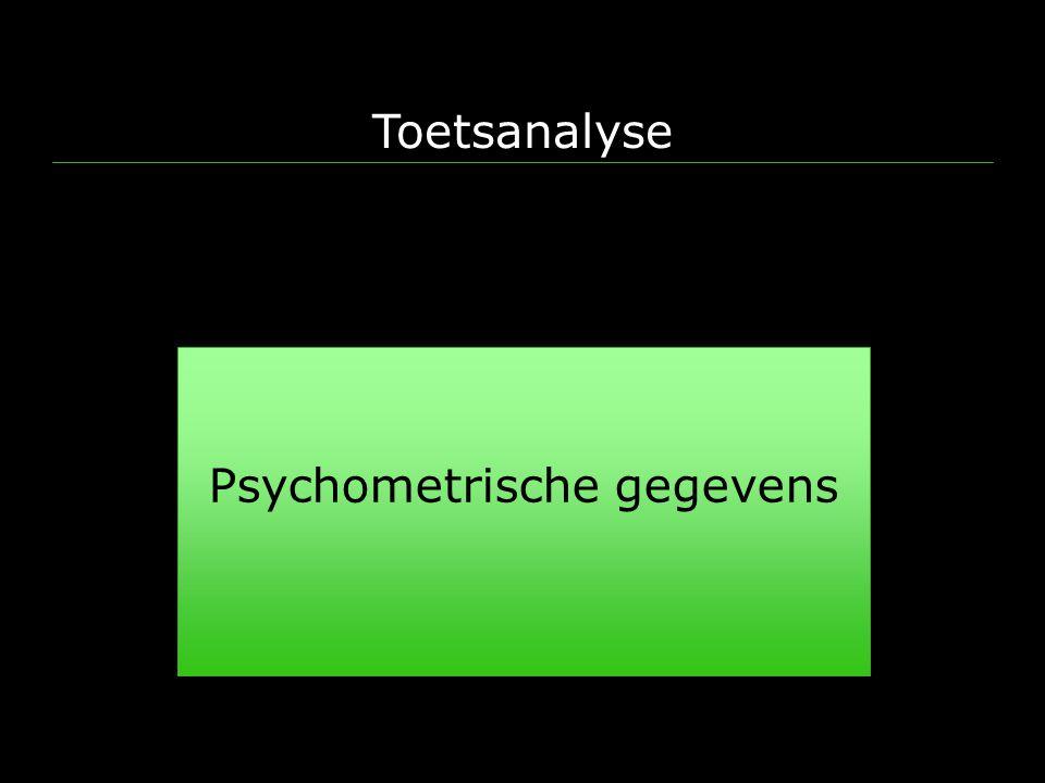 Toetsanalyse Psychometrische gegevens Peter de Vries (examencommissie Psychologie)