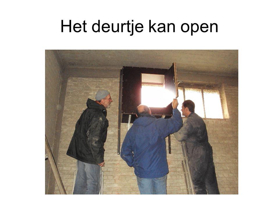 Het deurtje kan open