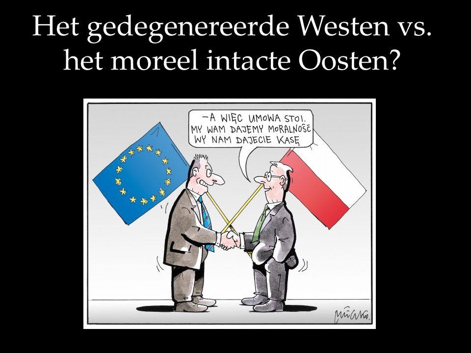 Het gedegenereerde Westen vs. het moreel intacte Oosten?