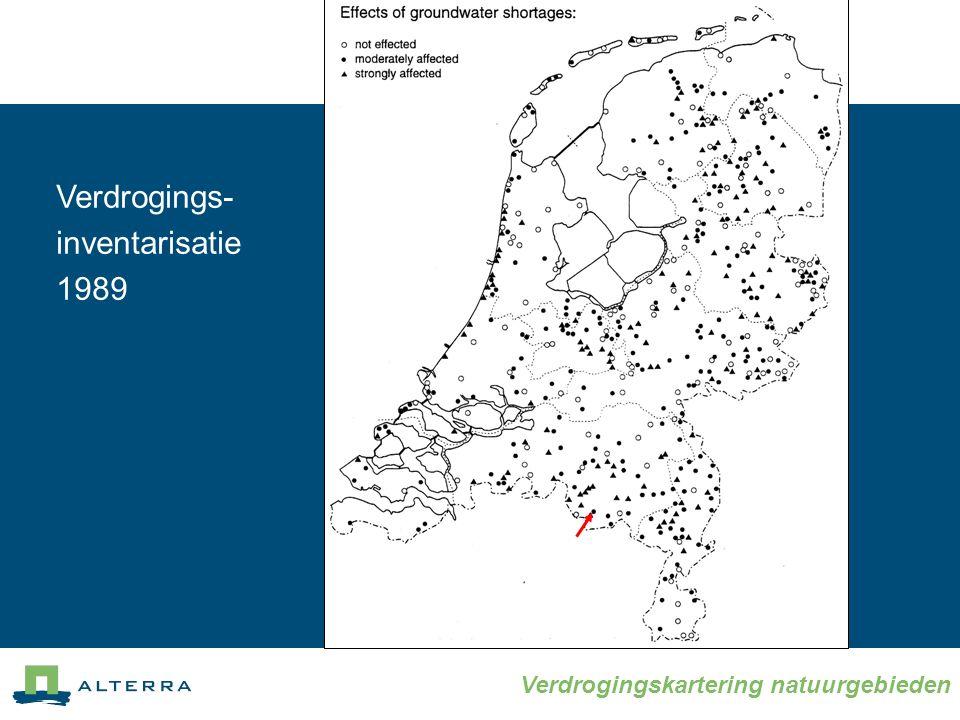 Verdrogingskartering natuurgebieden Verdrogings- inventarisatie 1989