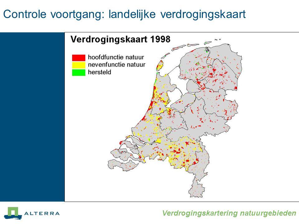 Verdrogingskartering natuurgebieden Controle voortgang: landelijke verdrogingskaart