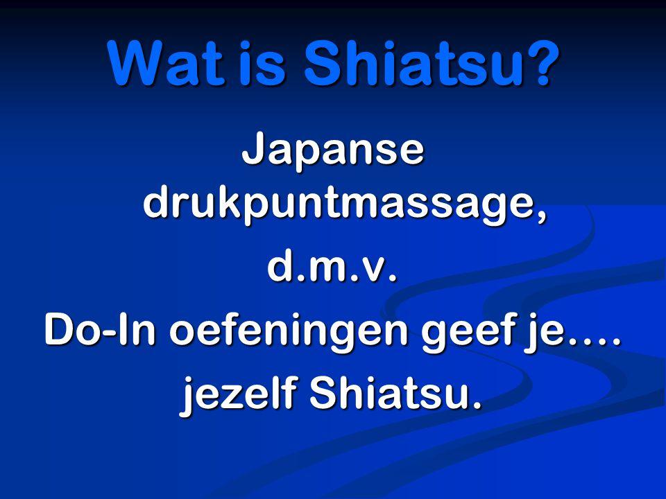 Oosterse bewegingsleer afkomstig vanuit Shiatsu