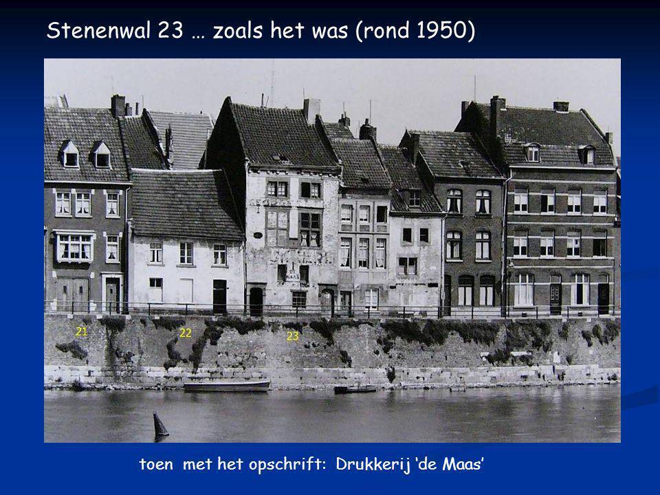 Stenenwal 23 … zoals het was (voor 1930) opschrift op de gevel: Math Delnoz, Electr. Smederij