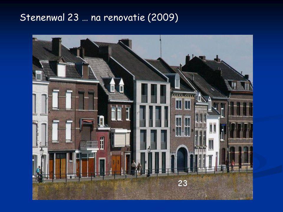 Stenenwal 23 … zoals het was (rond 1950) toen met het opschrift: Drukkerij 'de Maas'