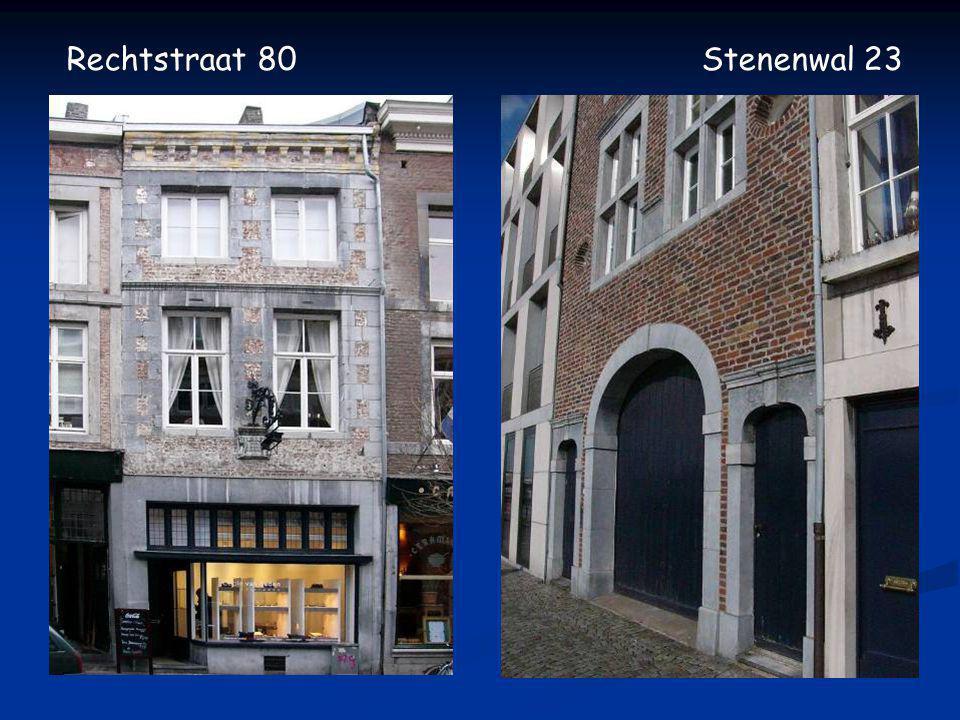 Voor– en achterhuis Rechtstraat 80 en Stenenwal 23 huisnummeringkadaster