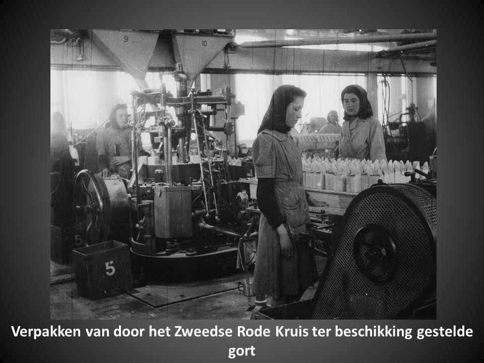Schepen van het Zweedse Rode Kruis in de Merwehaven