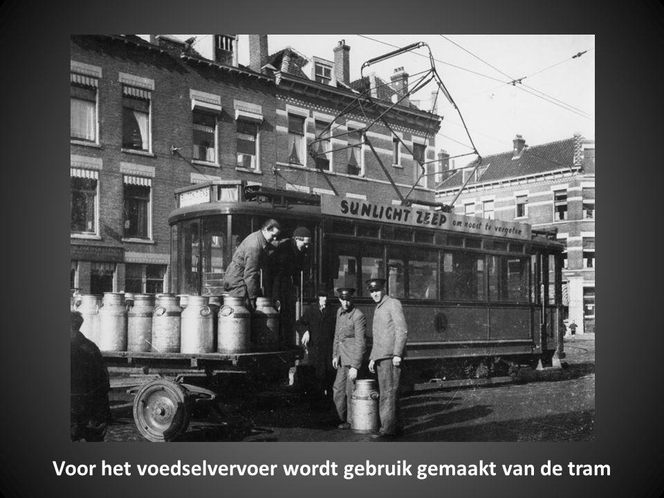 Voor het voedselvervoer wordt gebruik gemaakt van de tram