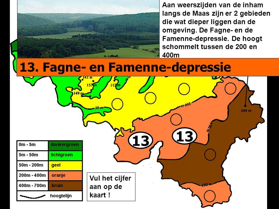 13 Aan weerszijden van de inham langs de Maas zijn er 2 gebieden die wat dieper liggen dan de omgeving.