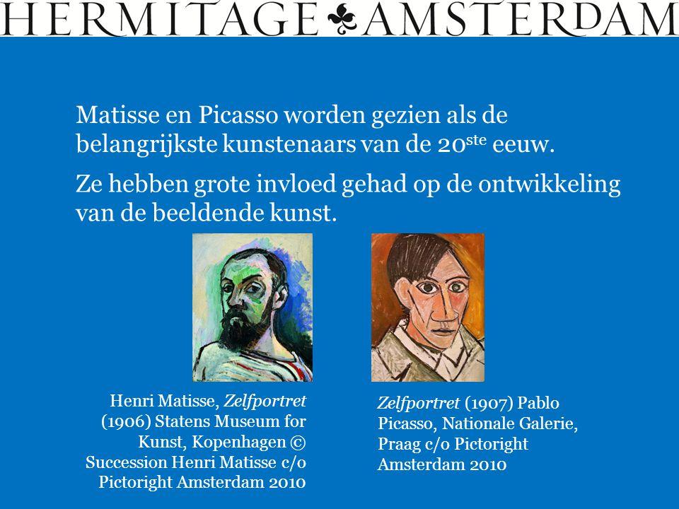 Matisse en Picasso worden gezien als de belangrijkste kunstenaars van de 20 ste eeuw. Ze hebben grote invloed gehad op de ontwikkeling van de beeldend