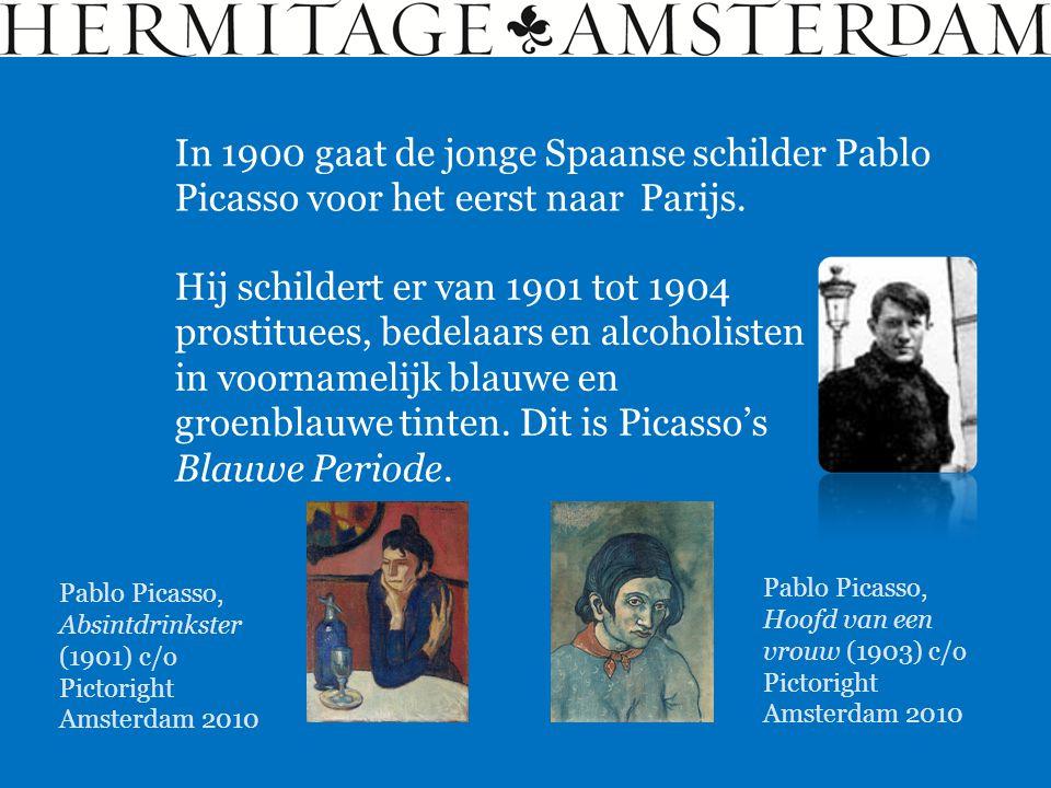 In 1900 gaat de jonge Spaanse schilder Pablo Picasso voor het eerst naar Parijs. Hij schildert er van 1901 tot 1904 prostituees, bedelaars en alcoholi