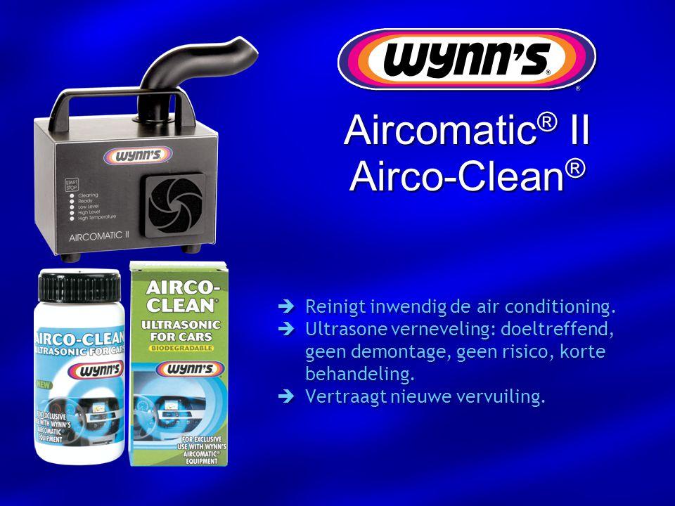  Reinigt inwendig de air conditioning.  Ultrasone verneveling: doeltreffend, geen demontage, geen risico, korte behandeling.  Vertraagt nieuwe verv