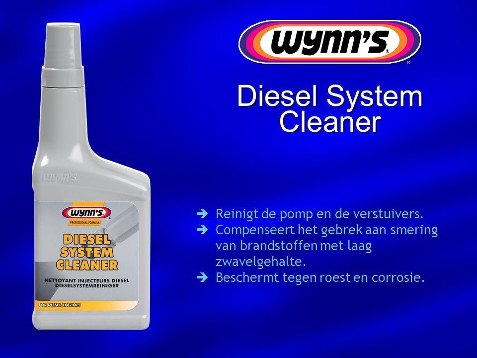  Reinigt de pomp en de verstuivers.  Compenseert het gebrek aan smering van brandstoffen met laag zwavelgehalte.  Beschermt tegen roest en corrosie
