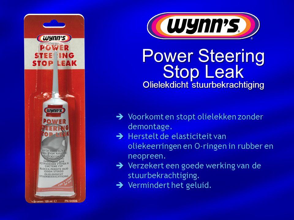 Power Steering Stop Leak Olielekdicht stuurbekrachtiging  Voorkomt en stopt olielekken zonder demontage.  Herstelt de elasticiteit van oliekeerringe