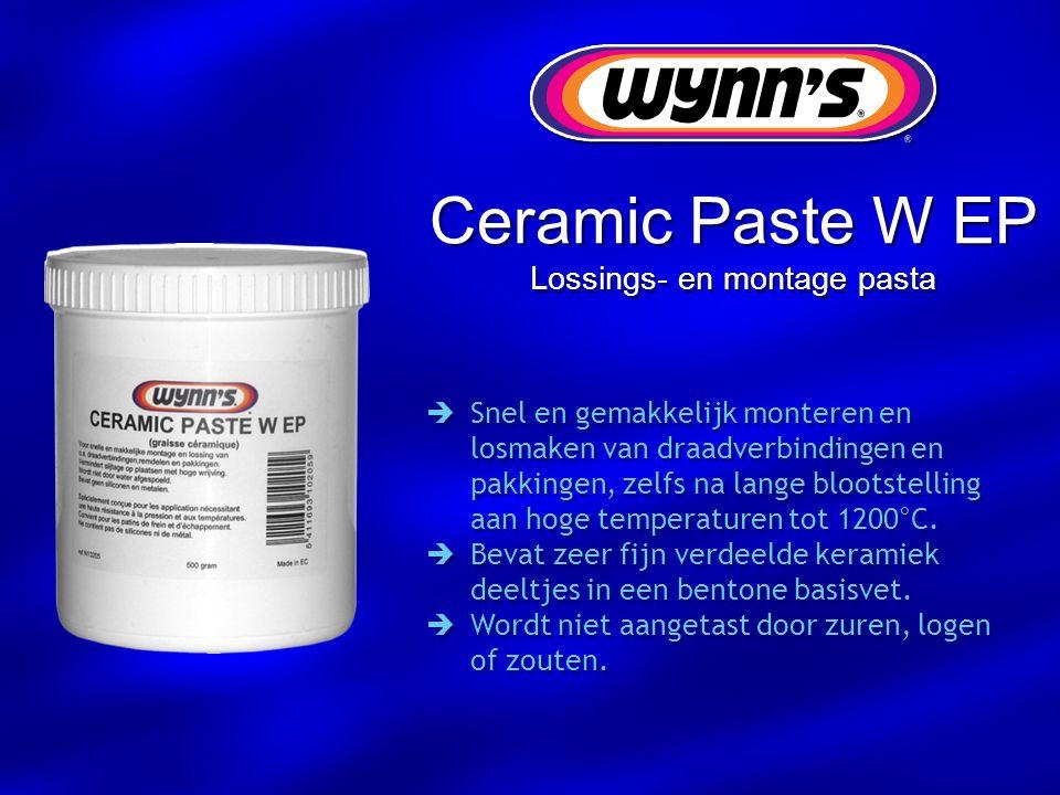 Ceramic Paste W EP Lossings- en montage pasta  Snel en gemakkelijk monteren en losmaken van draadverbindingen en pakkingen, zelfs na lange blootstell