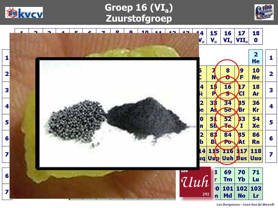 Groep 16 (VI a ) Zuurstofgroep Leo Bergmans – Jean Van de Weerdt