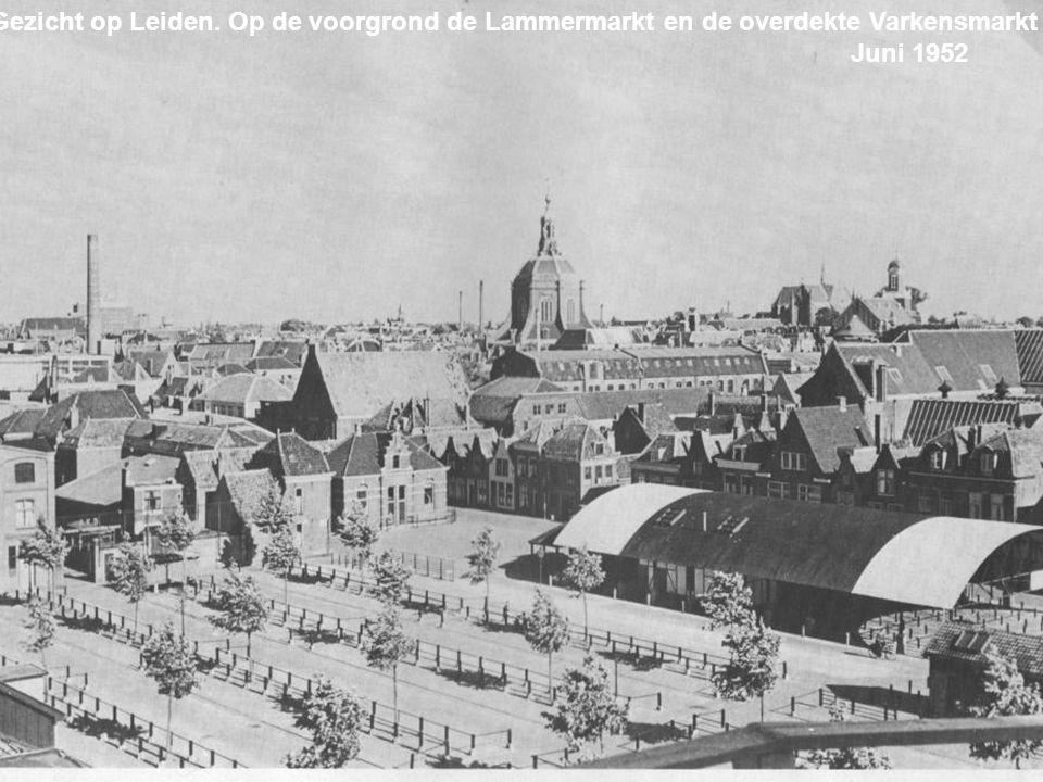 De Uiterstegracht. Met aan het eind de Oude Rijn. Gedempt in 1959 September 1956