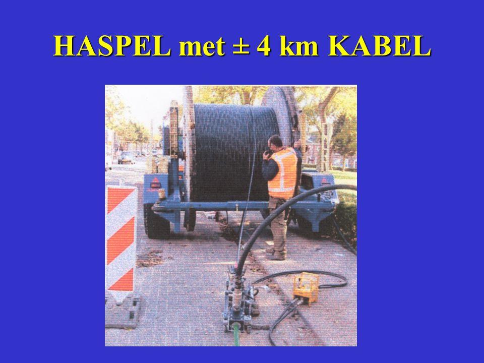 MAXIMALE INBLAASLENGTE Wrijvingsweerstand tussen de kabel en de buiswand is minimaal door de inwendige profilering in lengterichting.