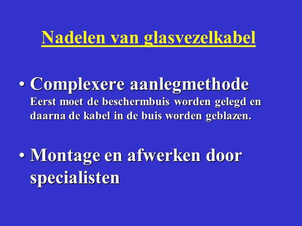 GLASVEZELKABEL WENSEN •Metaalvrij •Lichtgewicht •max 14 mm doorsnede i.v.m.