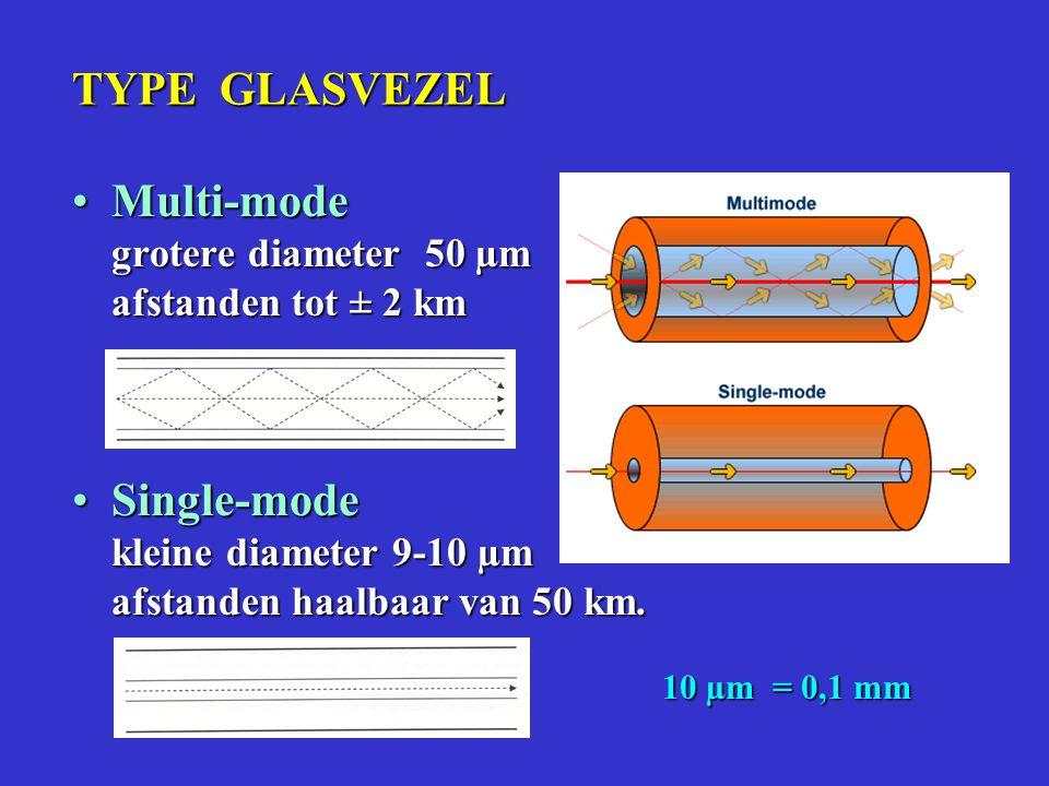 Doorsnede glasvezelkabel 48 vezels