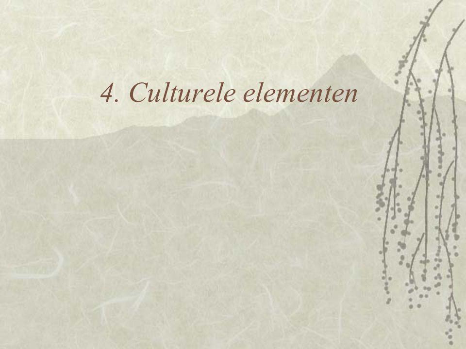 4. Culturele elementen